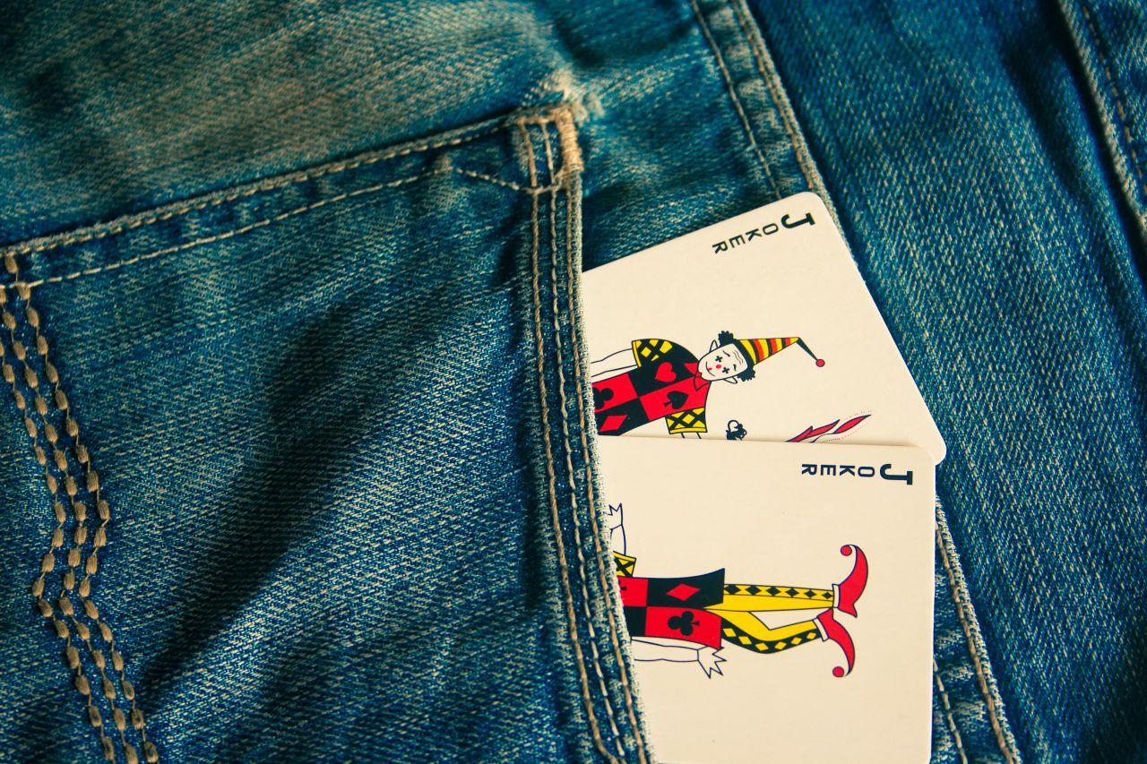 "Free photo ""Joker Cards In Pocket"""