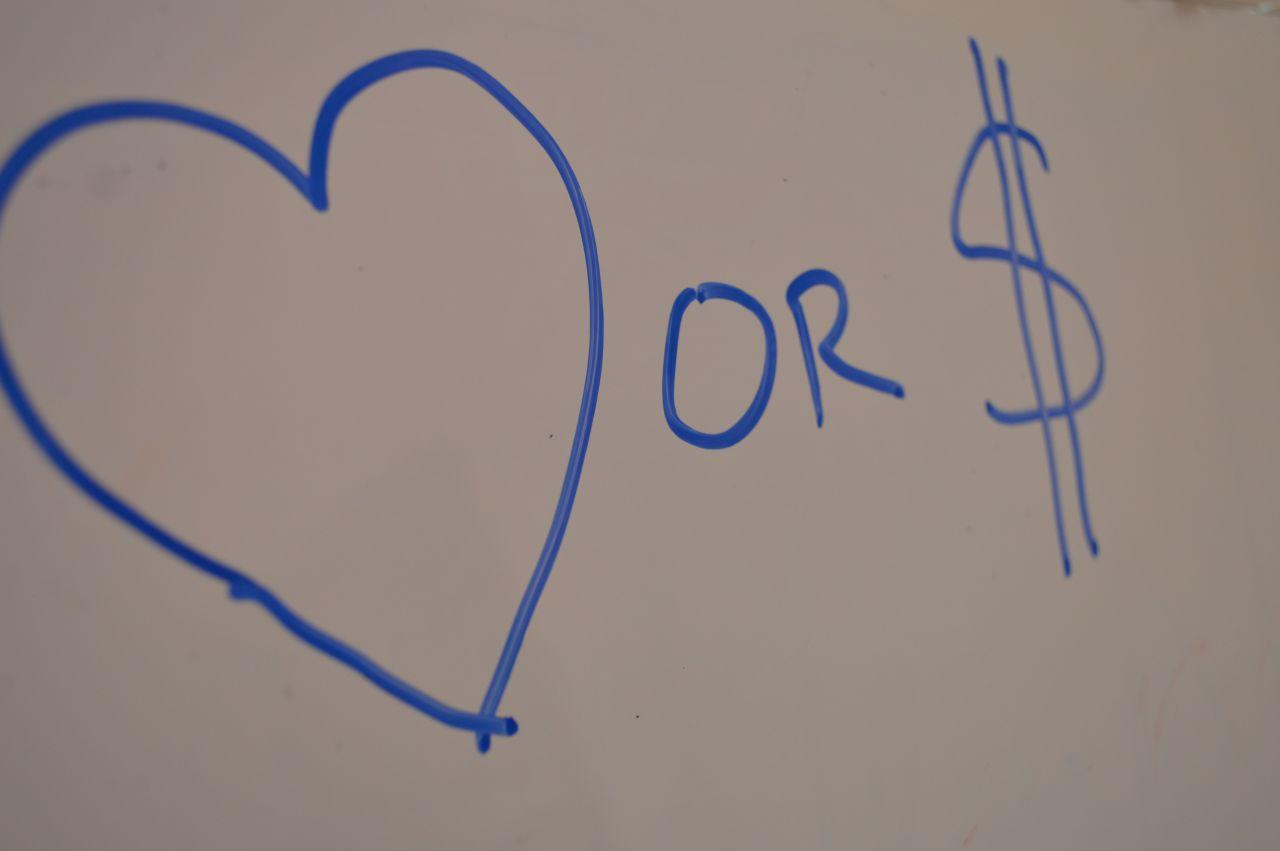 "Free photo ""Love Or Money"""