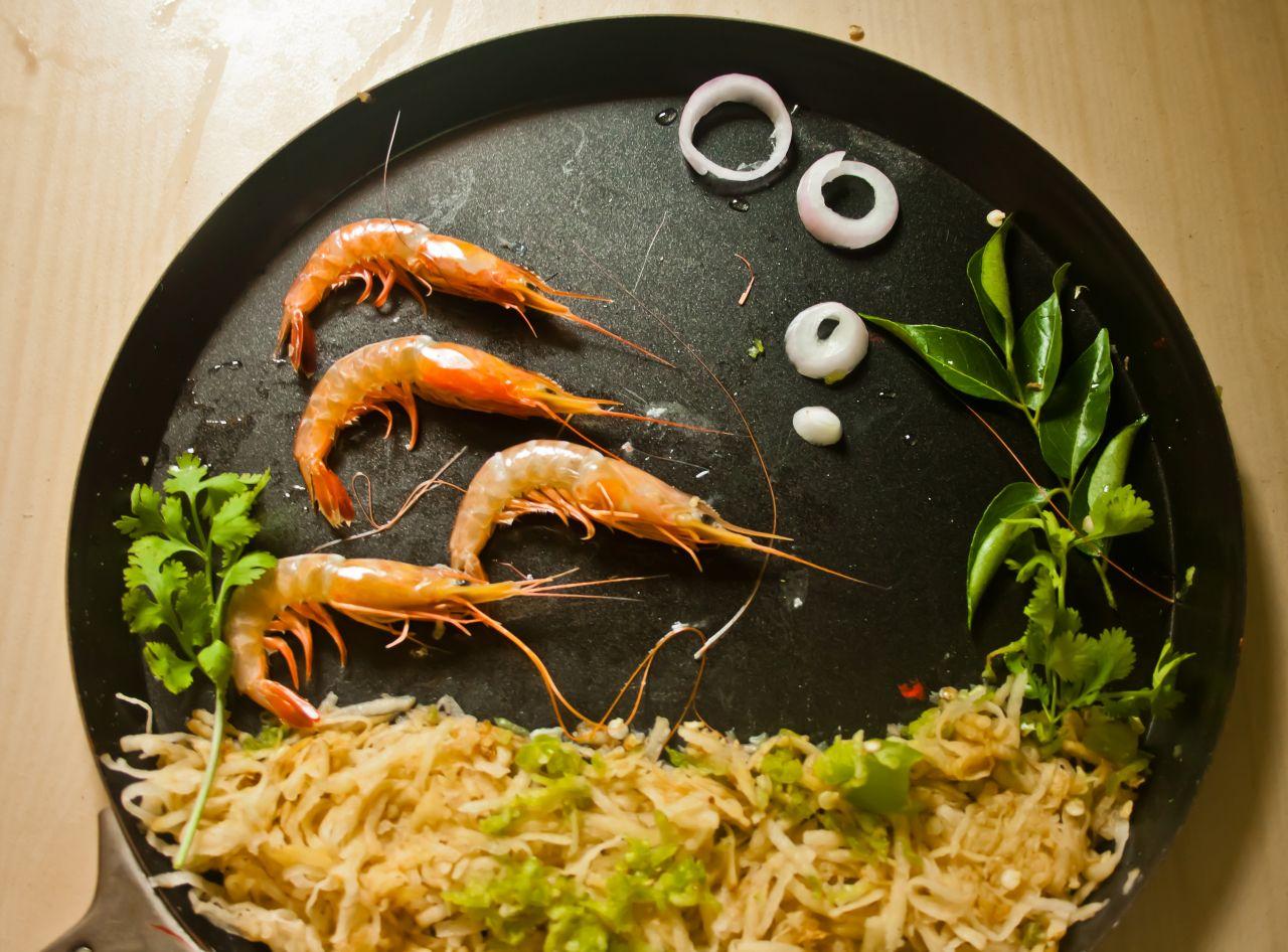 "Free photo ""Prawns Food Art"""
