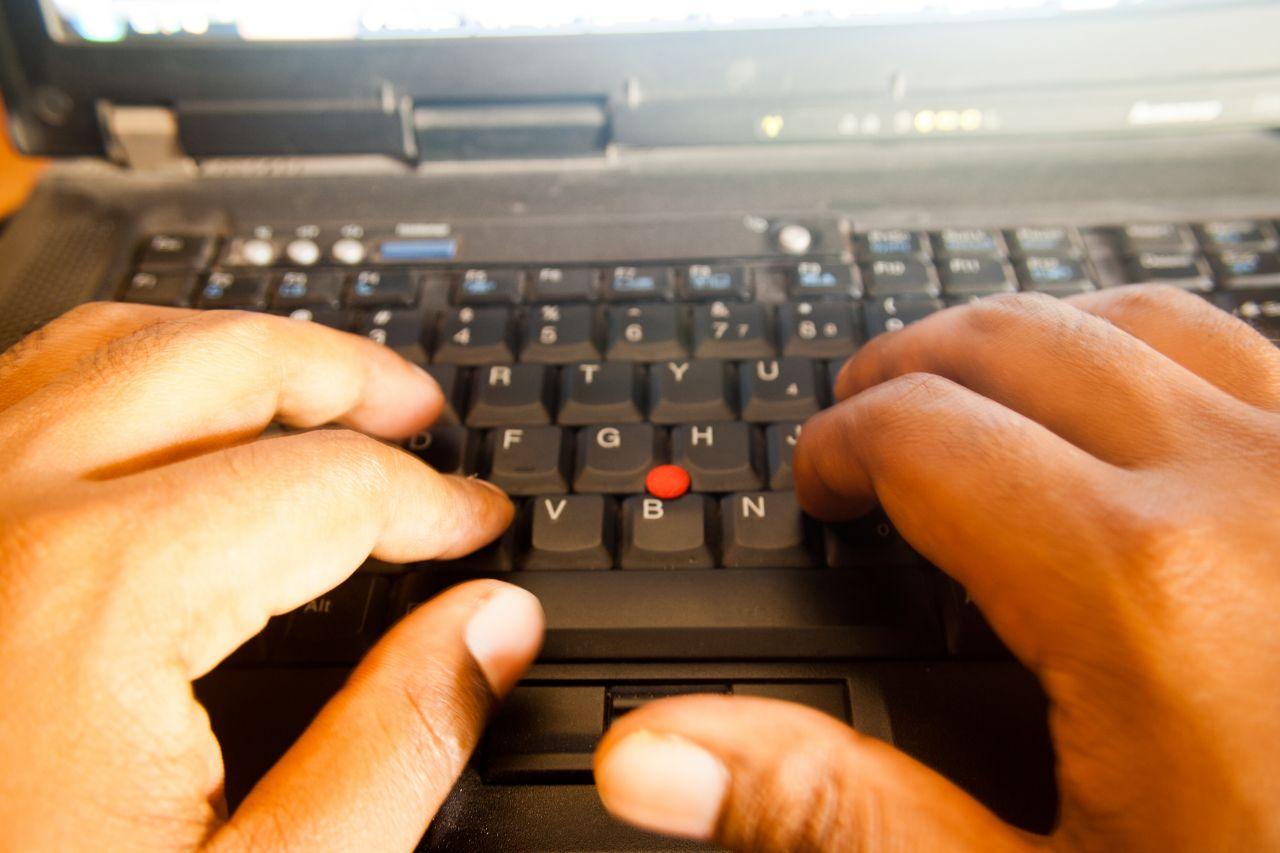 "Free photo ""Typing On Keyboard"""