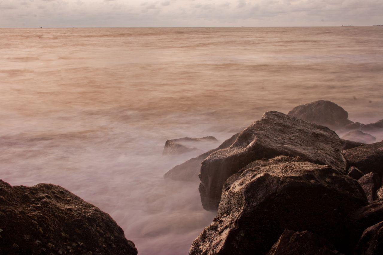 "Free photo ""Rock Waves Sea"""