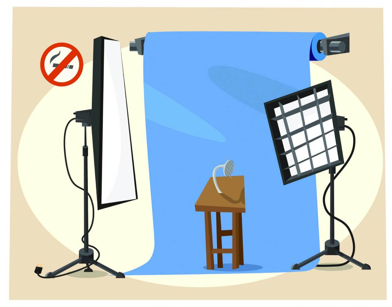 "Free vector ""Photographer equipment at work. Vector illustration"""