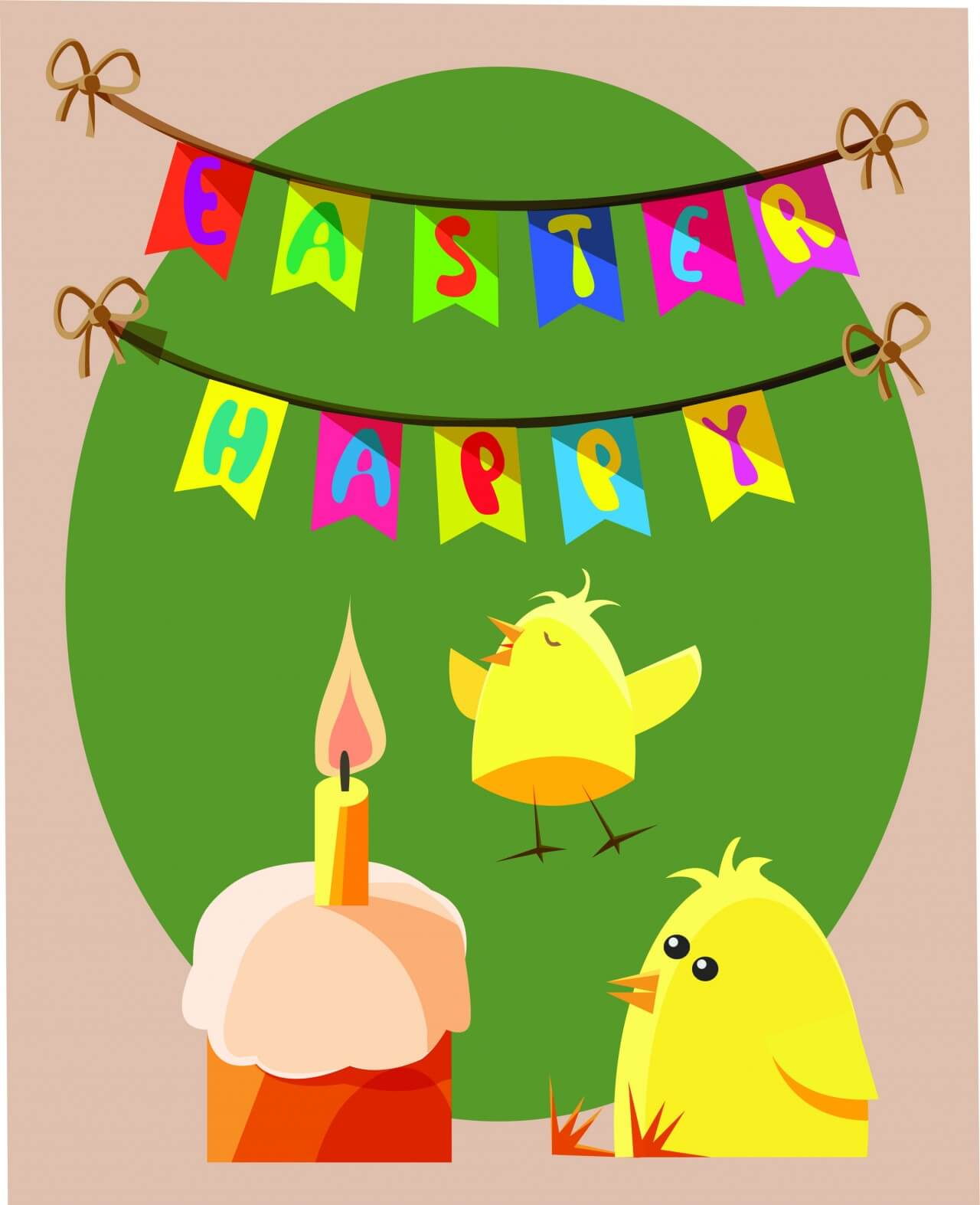 """Free vector """"Easter vector objects illustration"""""""