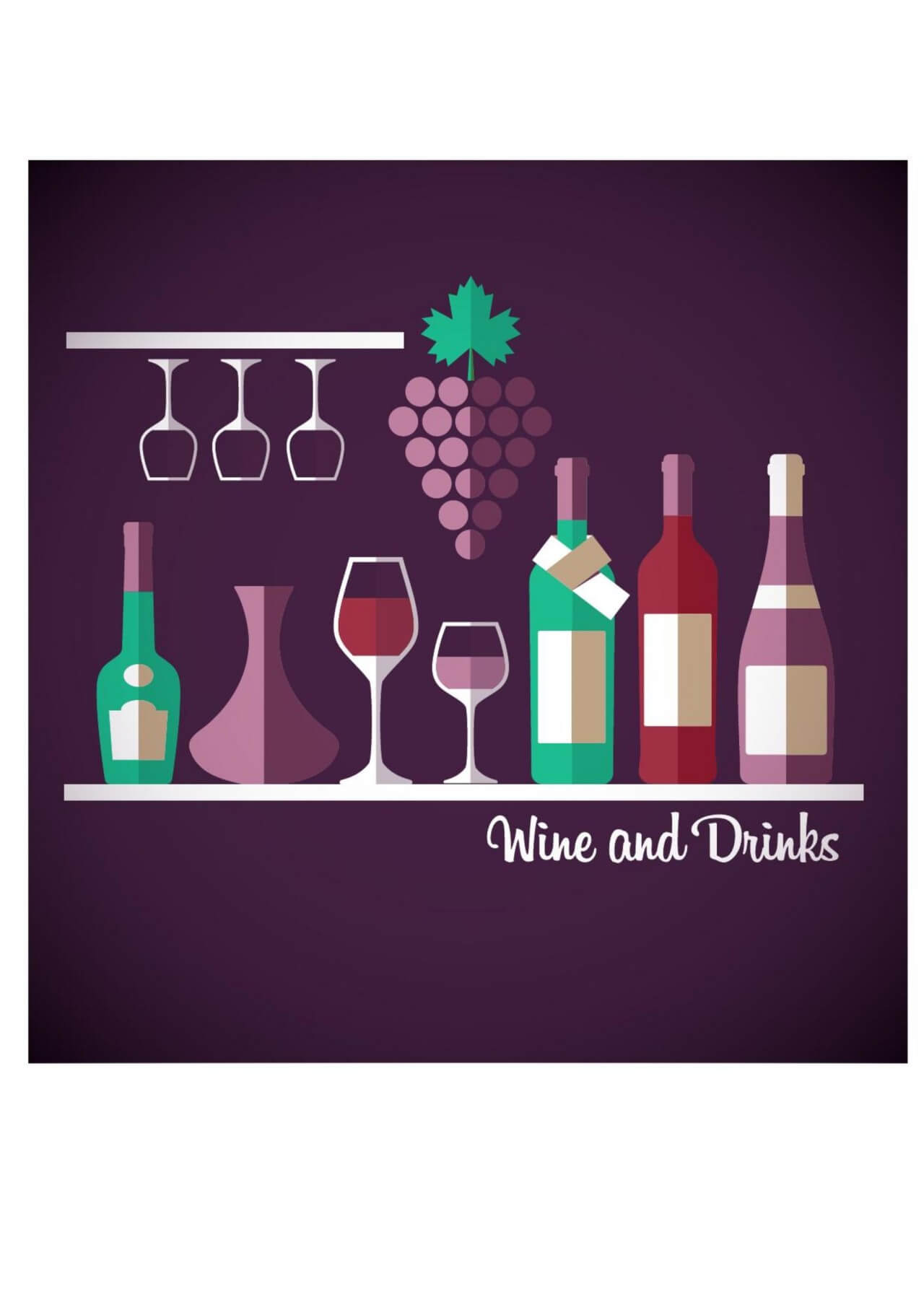 "Free vector ""Wine abstract illustration. Flat style."""