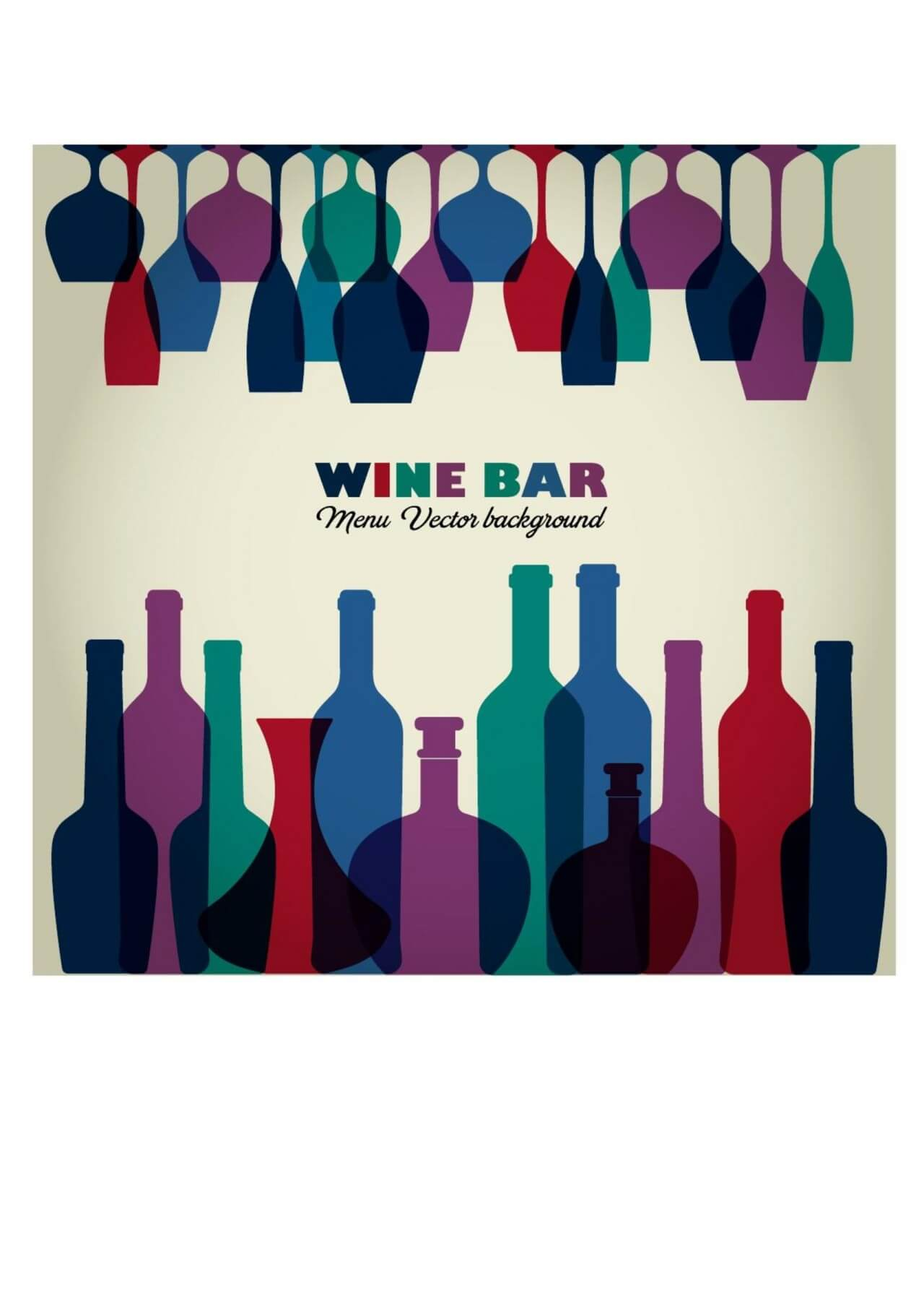 "Free vector ""Wine abstract illustration"""
