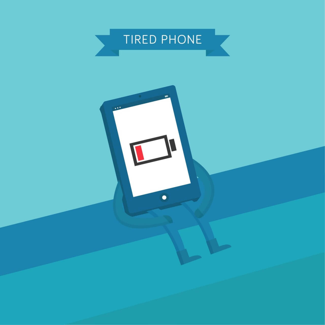 """Free vector """"Tired Phone"""""""