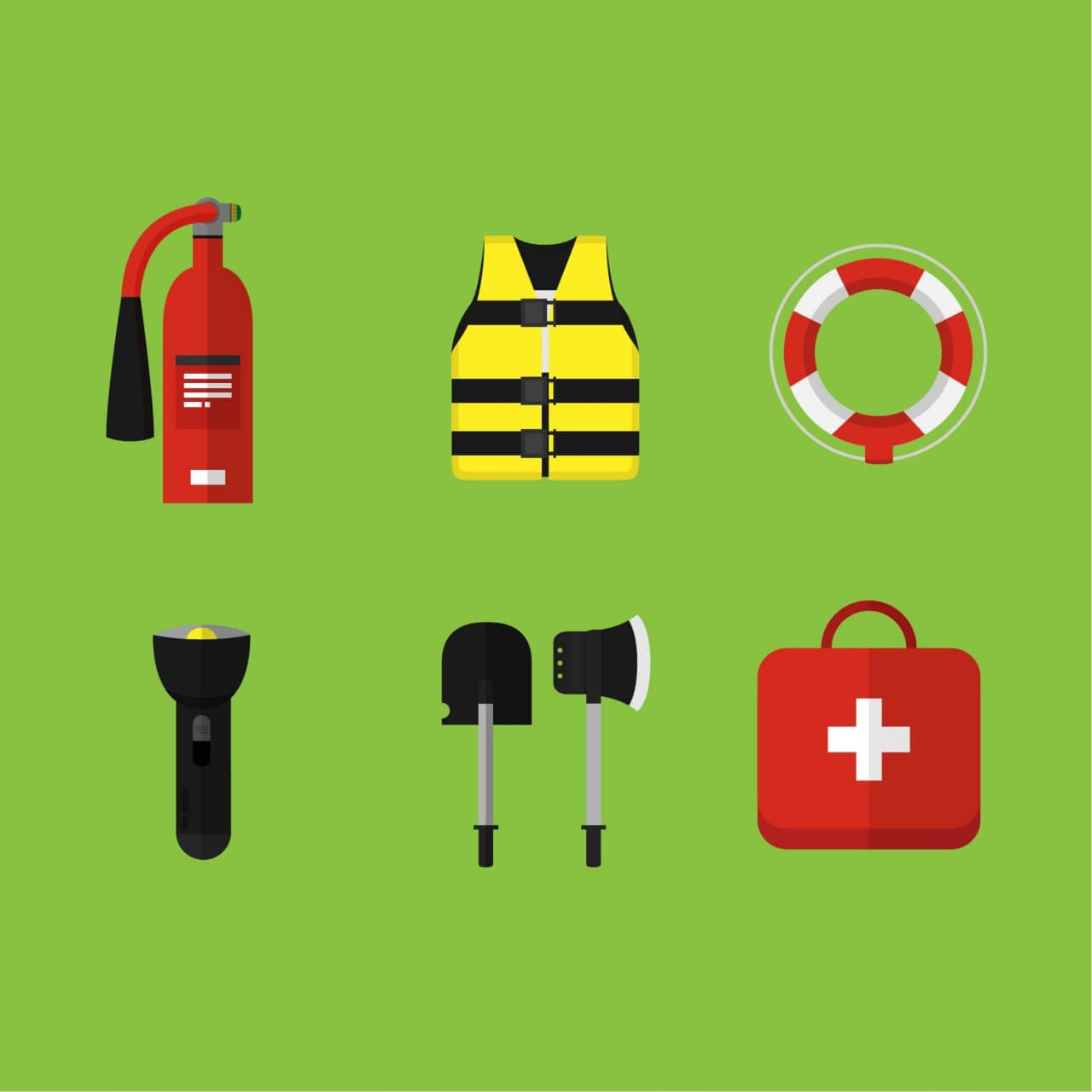 "Free vector ""Emergency and first aid icons"""