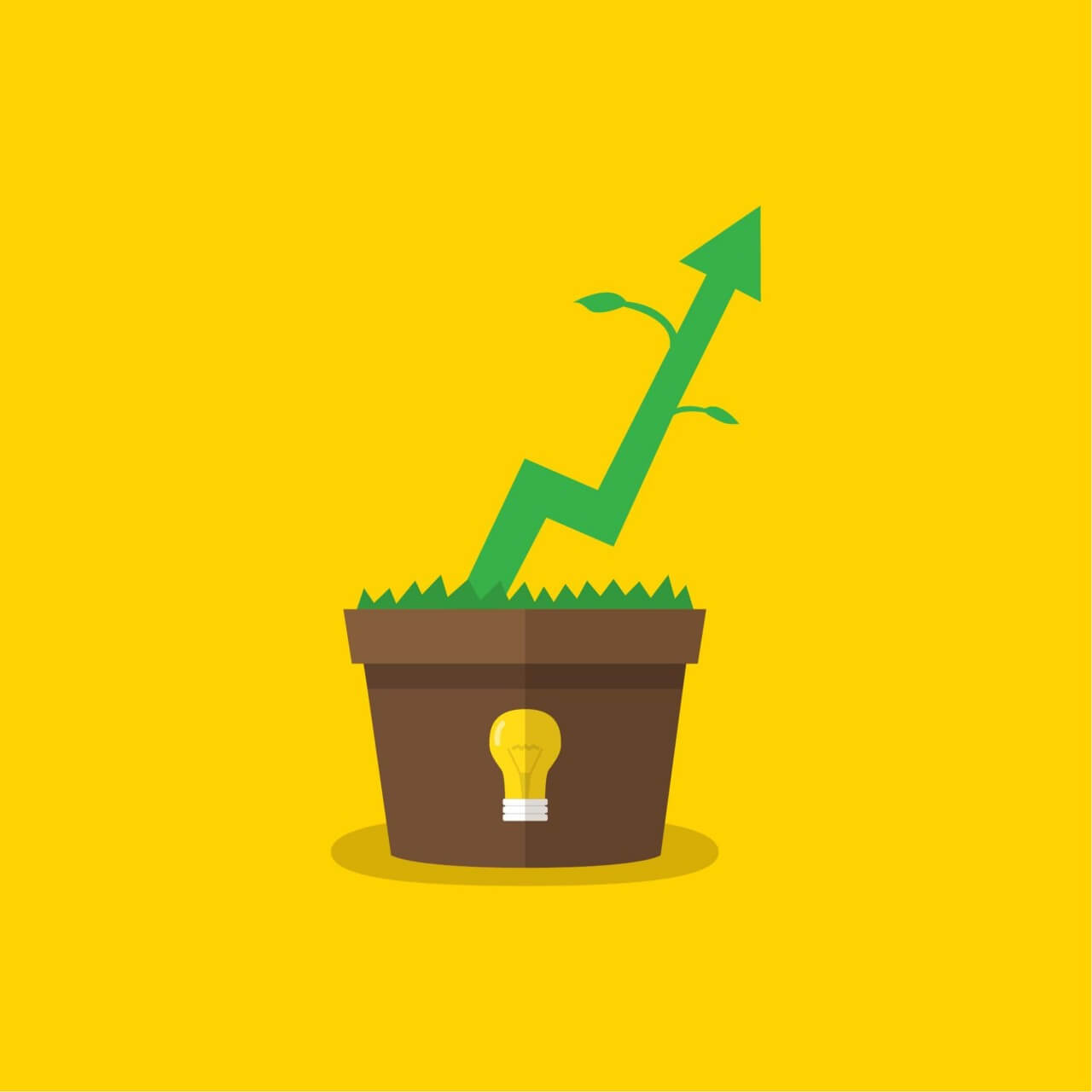 "Free vector ""Growing profits"""