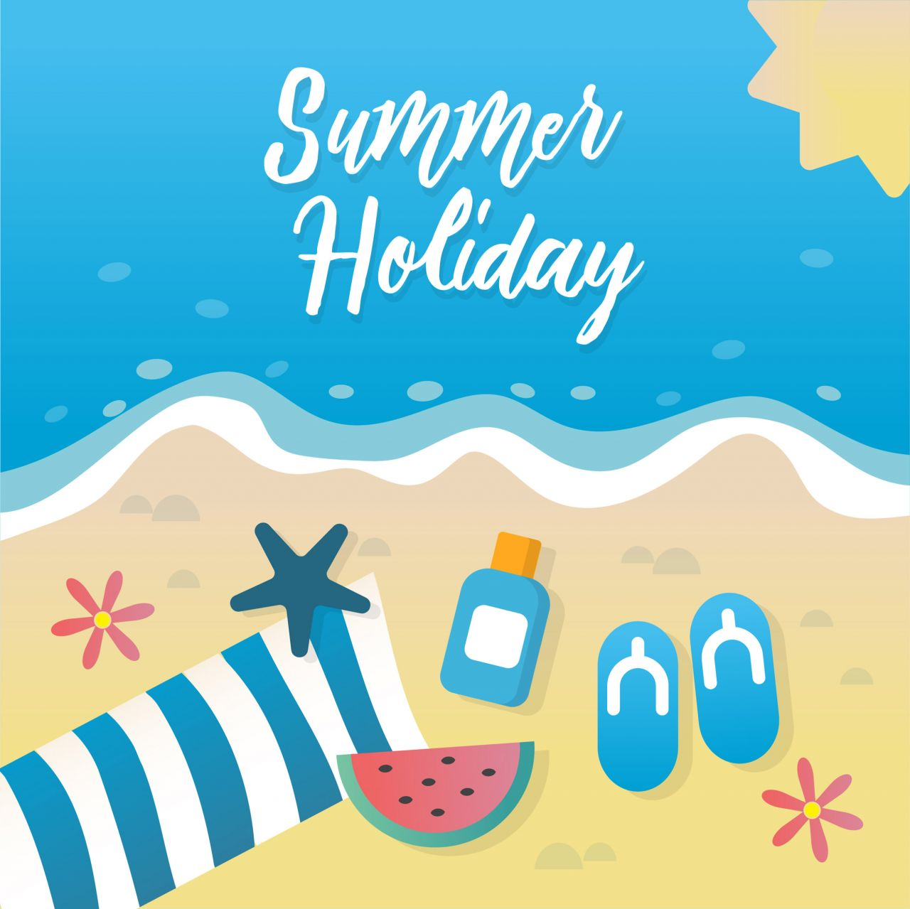 "Free vector ""Summer holiday greeting card design"""