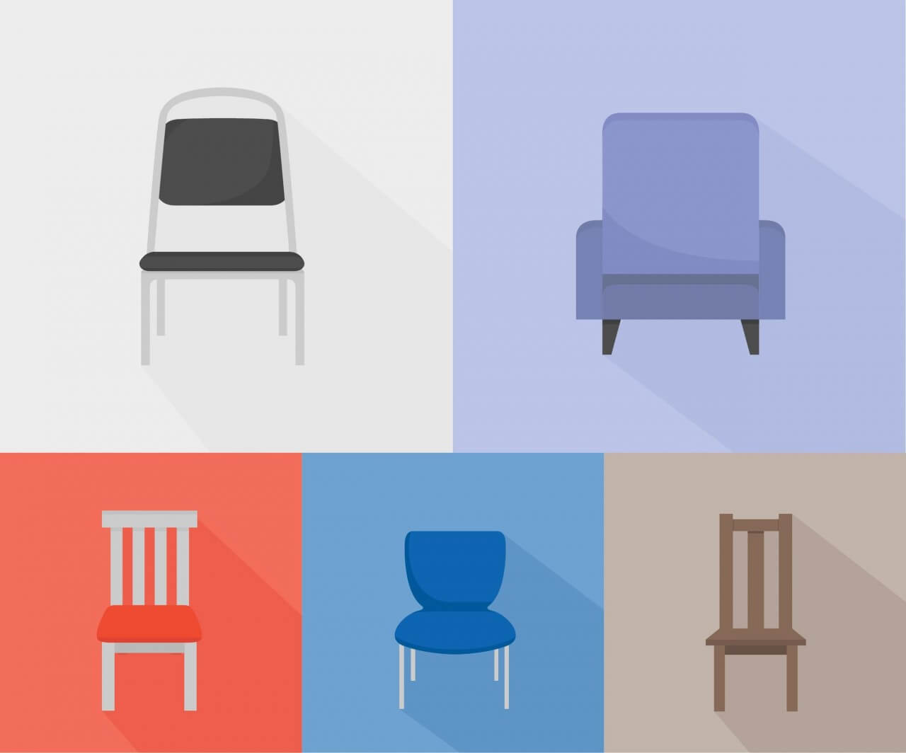 "Free vector ""Chairs of different kinds"""