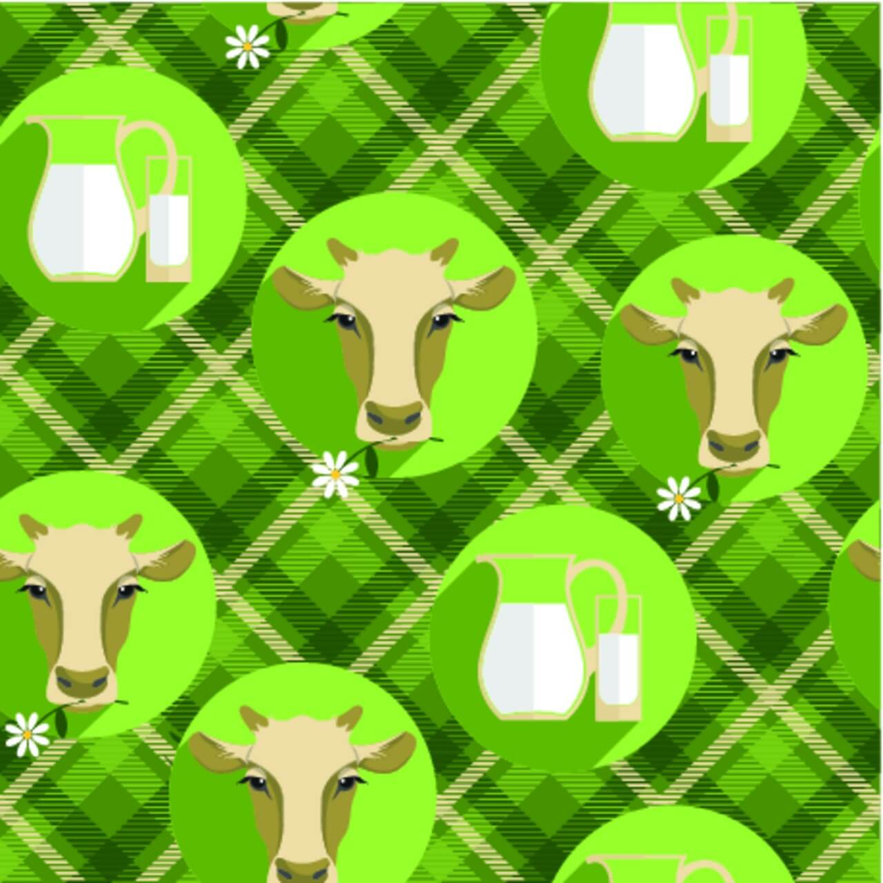 "Free vector ""Vector flat design illustration of cow. Seamless pattern"""