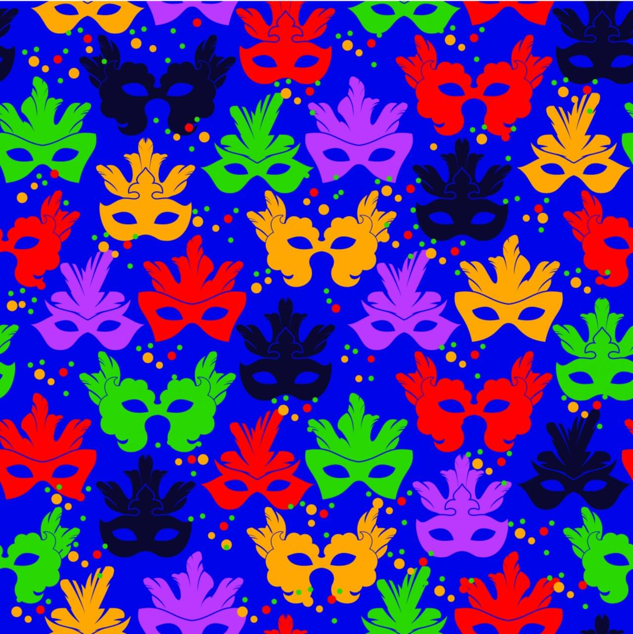 "Free vector ""Seamless pattern with carnival mask"""