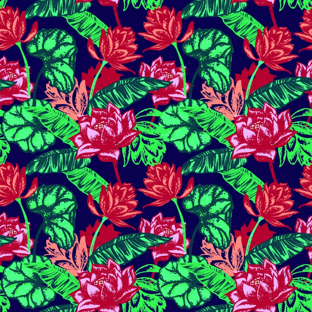 """Free vector """"Seamless floral pattern."""""""