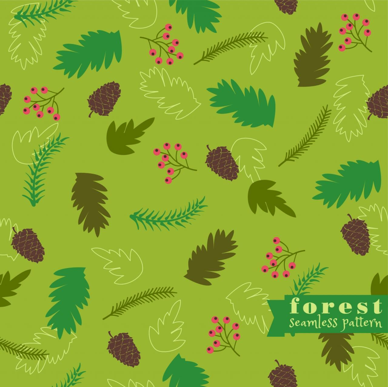 """Free vector """"Forest seamless pattern"""""""