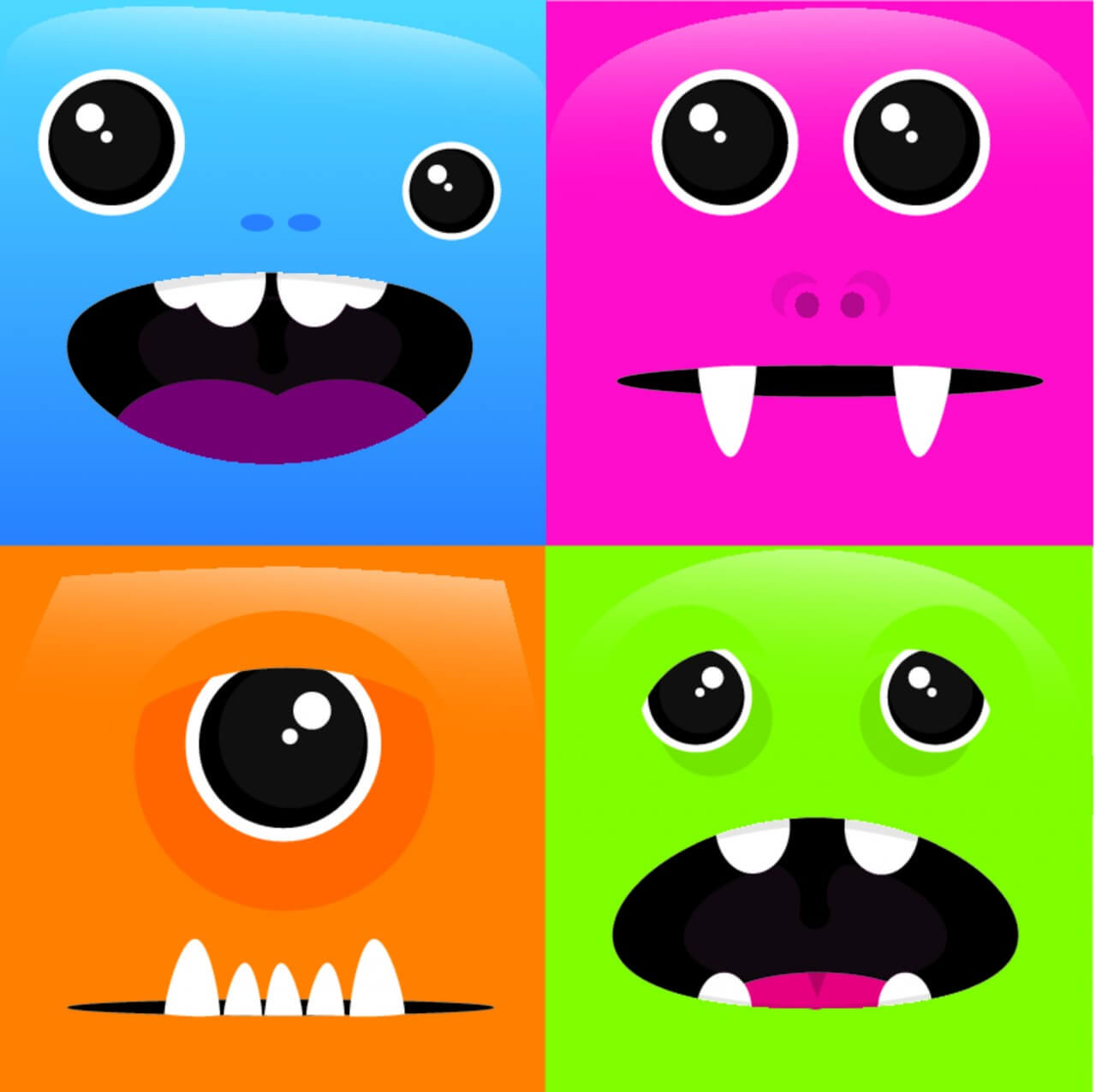 """Free vector """"Lil Monsters"""""""