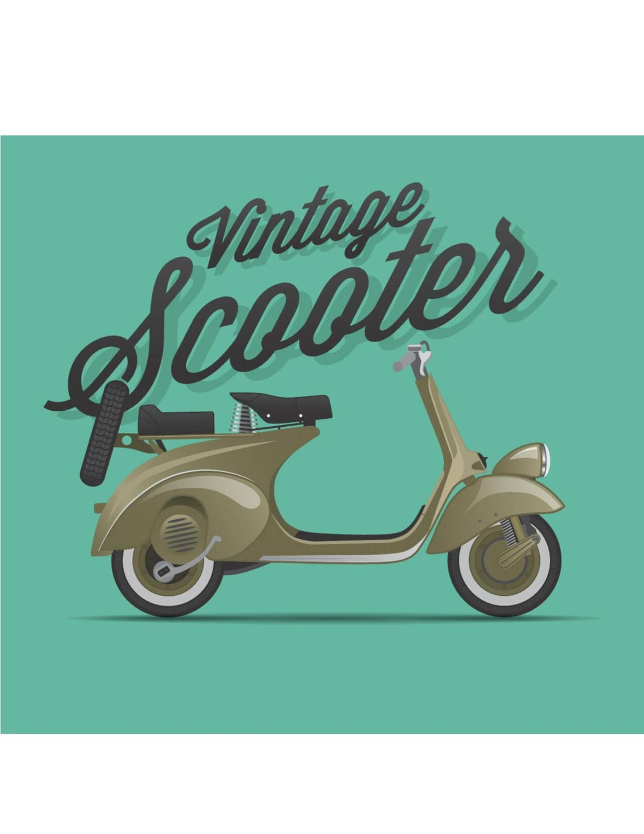 """Free vector """"Scooter Illustration"""""""
