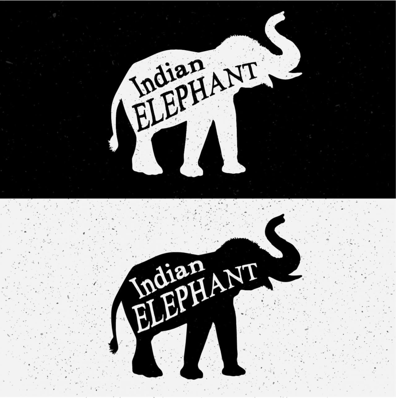 "Free vector ""Elephant Silhouette"""