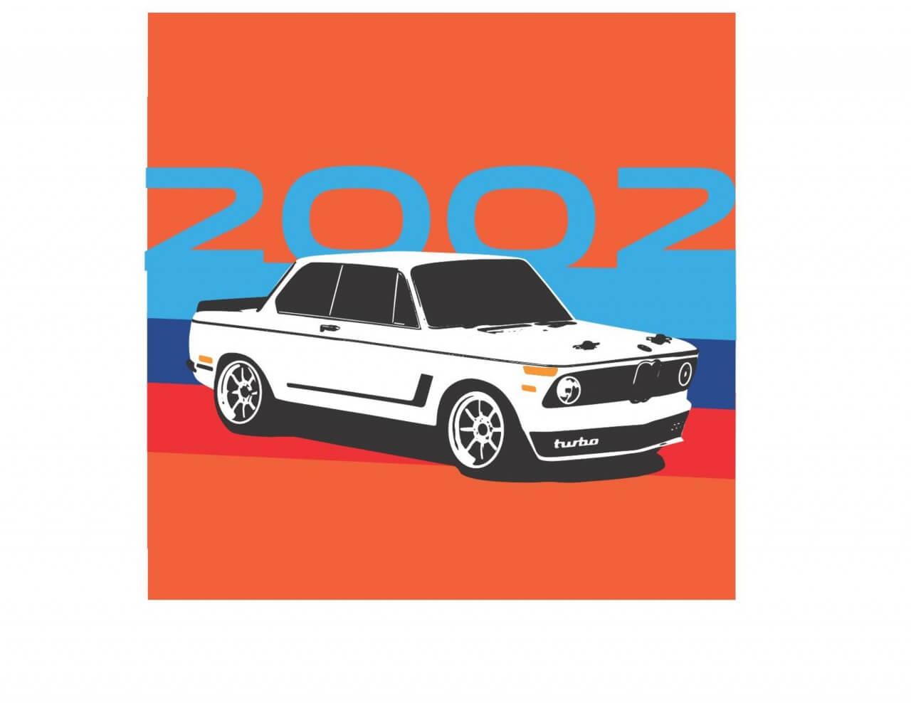 "Free vector ""BMW 2002"""