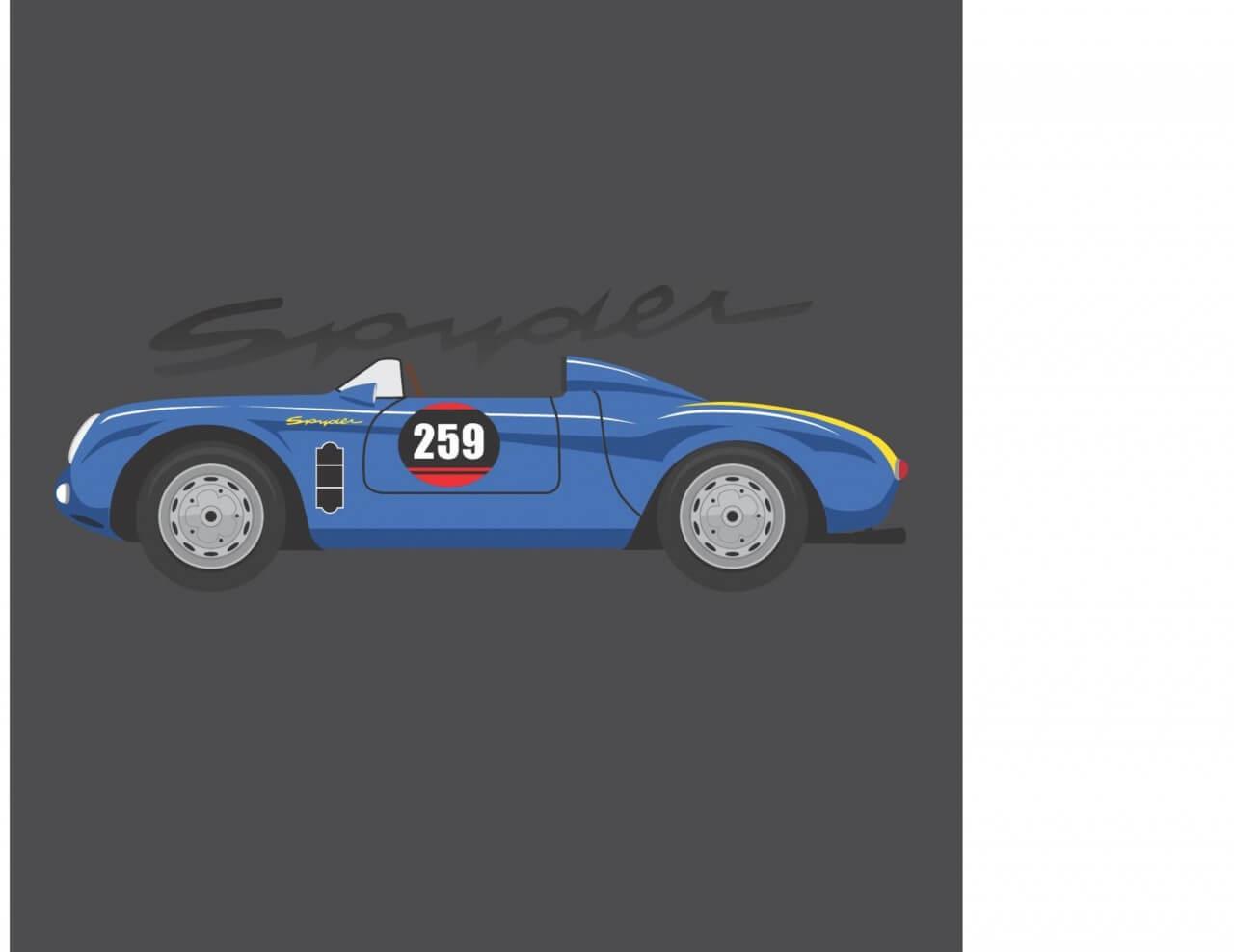 "Free vector ""Porsche Spyder"""