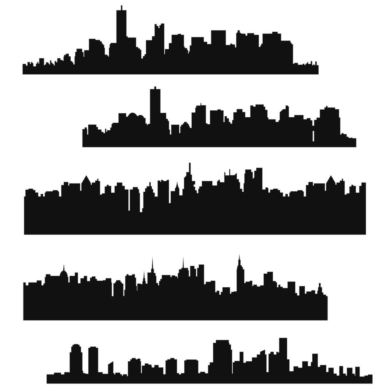 "Free vector ""Vector Skyline Set"""