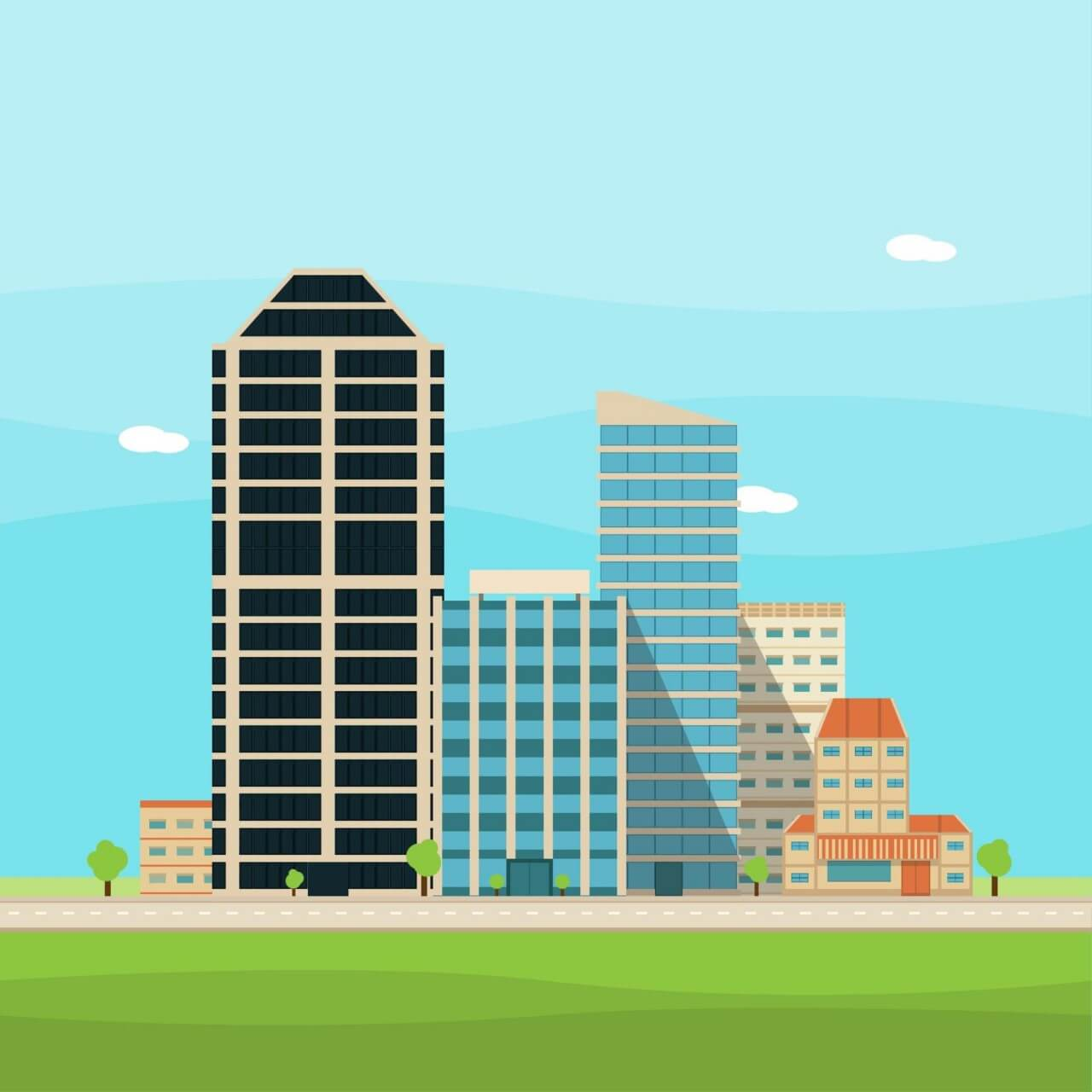 "Free vector ""Vector City Illustration"""