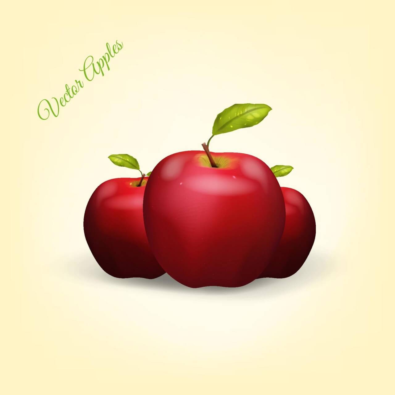 "Free vector ""Realistic Vector Apples"""