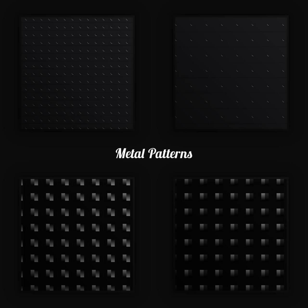 "Free vector ""Metal Vector Patterns"""