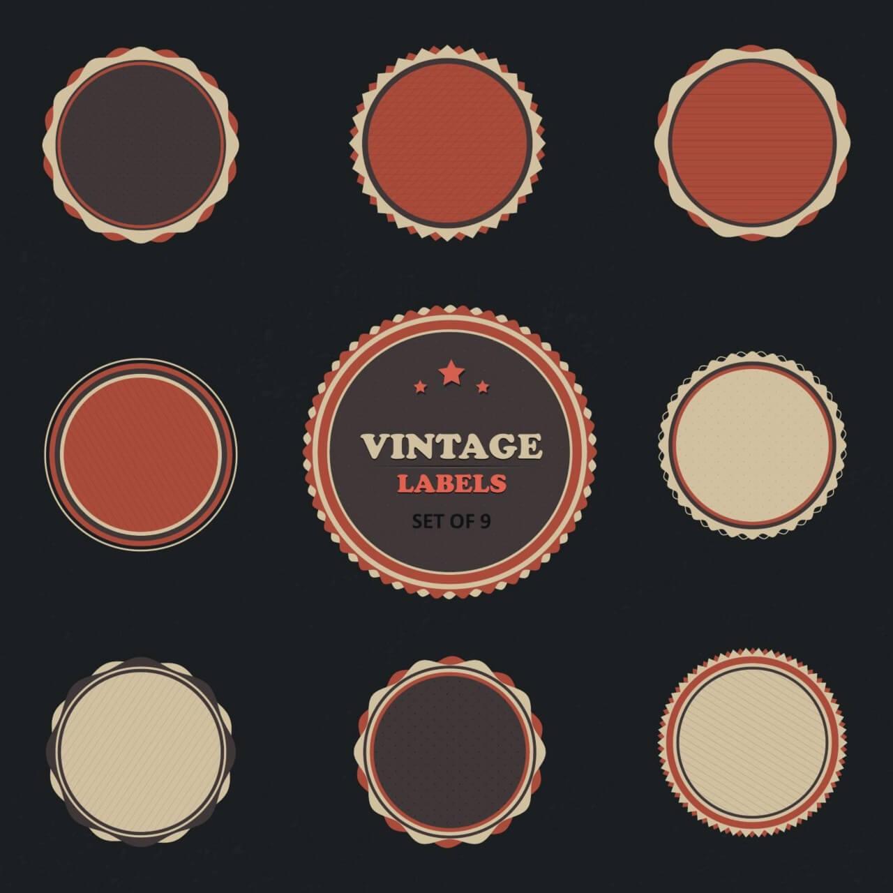 "Free vector ""Vintage Vector Labels Set"""