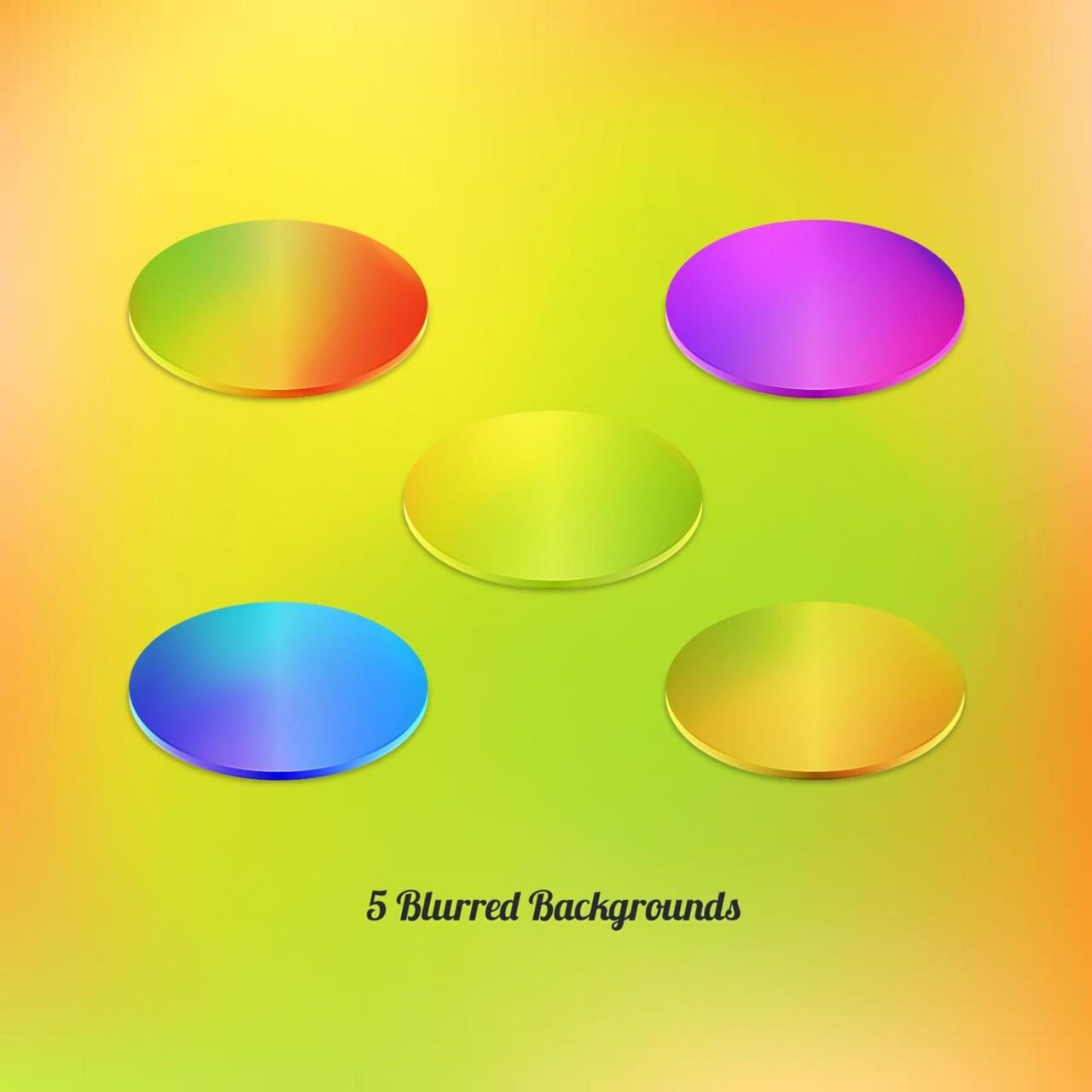 """Free vector """"Vector Blurred Backgrounds Set"""""""