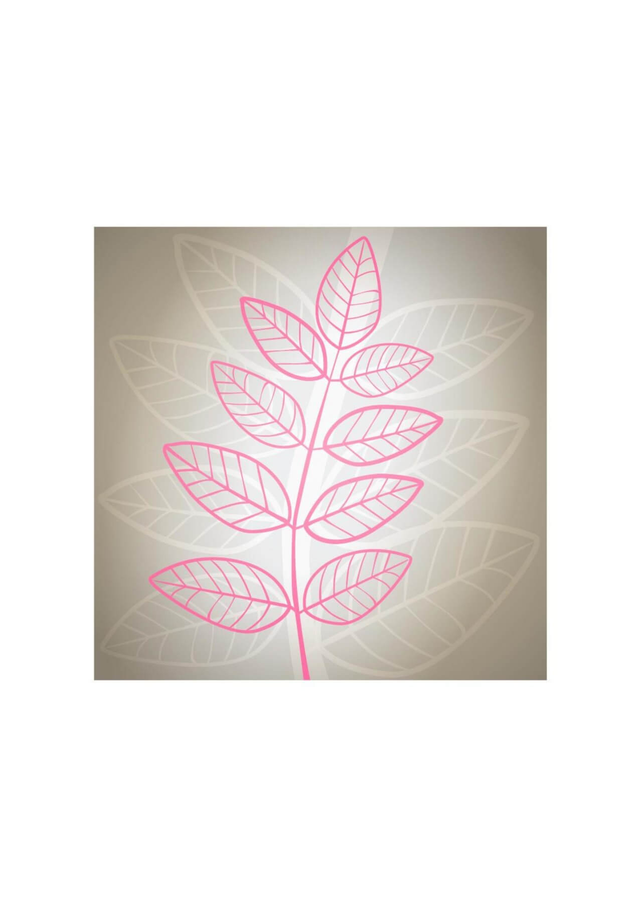 "Free vector ""Vector illustration Pink leaves on gray background"""