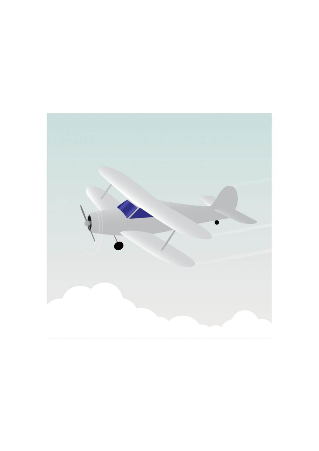 "Free vector ""Vector illustration White airplane"""