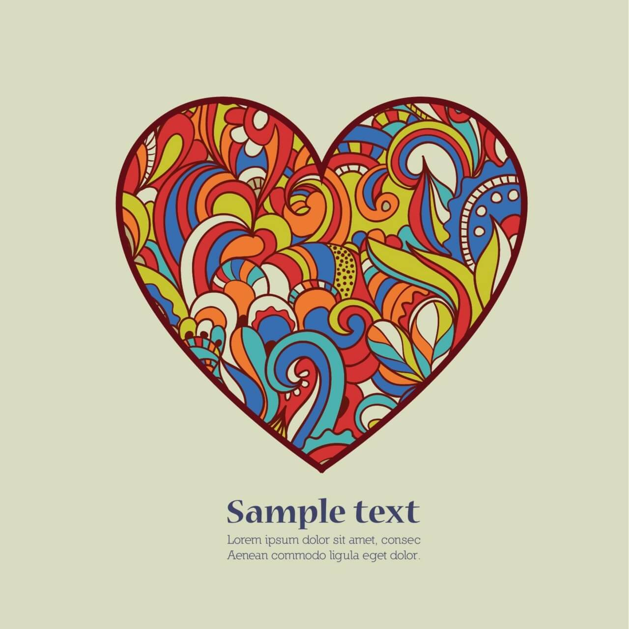 "Free vector ""Doodle vector illustration with heart"""
