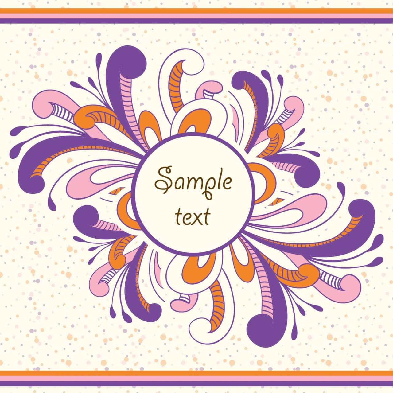 """Free vector """"Doodle vector illustration with frame and typography"""""""