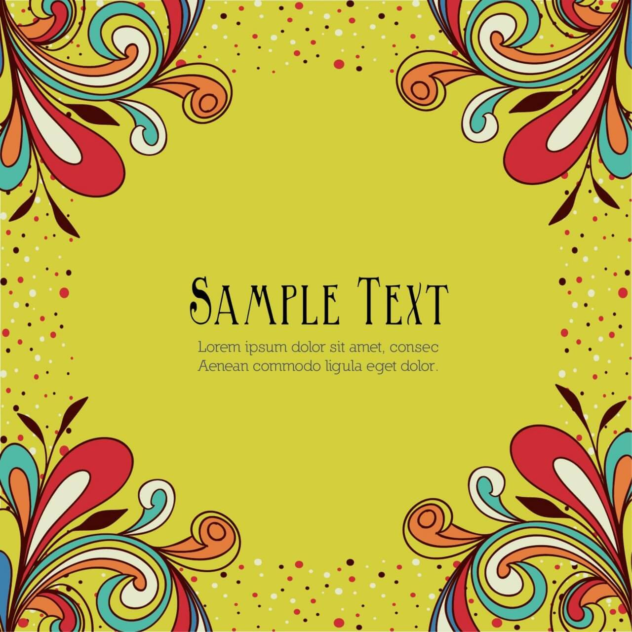 "Free vector ""Doodle vector illustration with typography"""