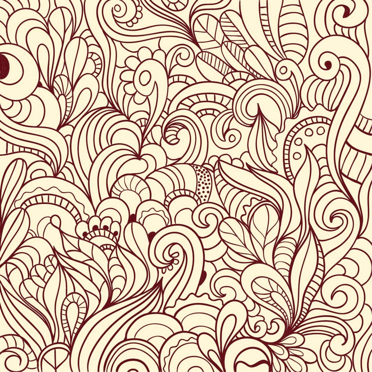 """Free vector """"Doodle abstract illustration"""""""