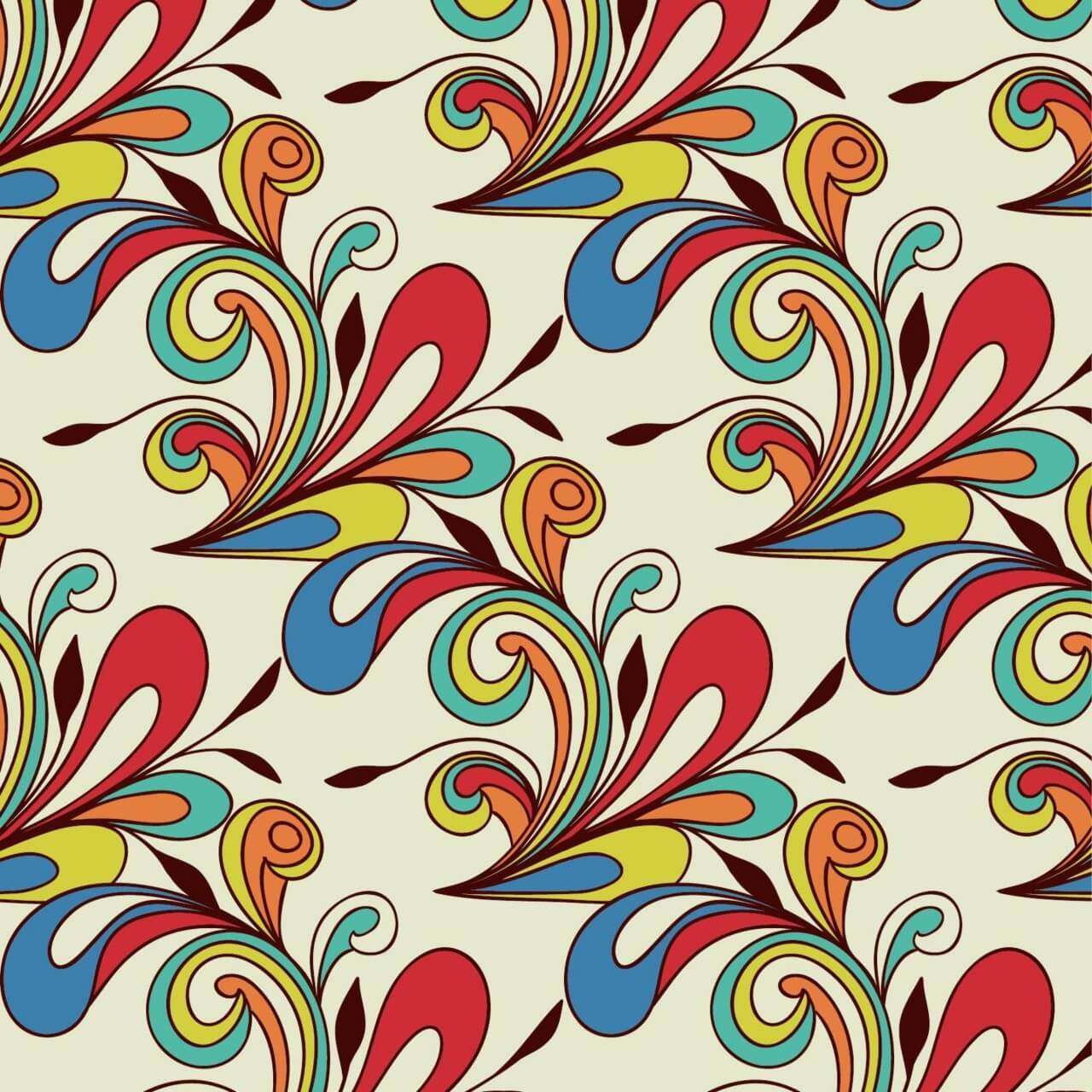 "Free vector ""Doodle abstract pattern"""