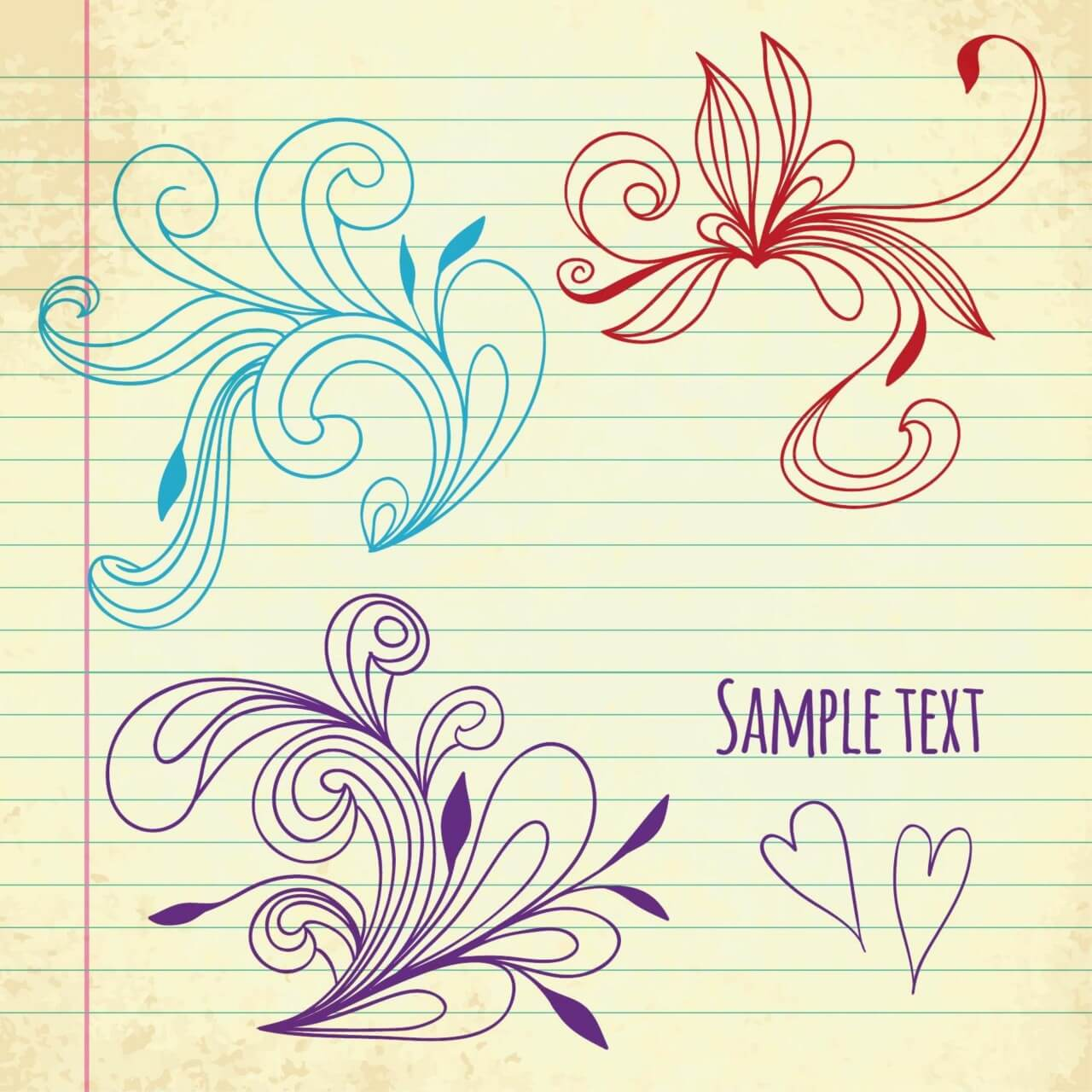 "Free vector ""Doodle vector illustration """