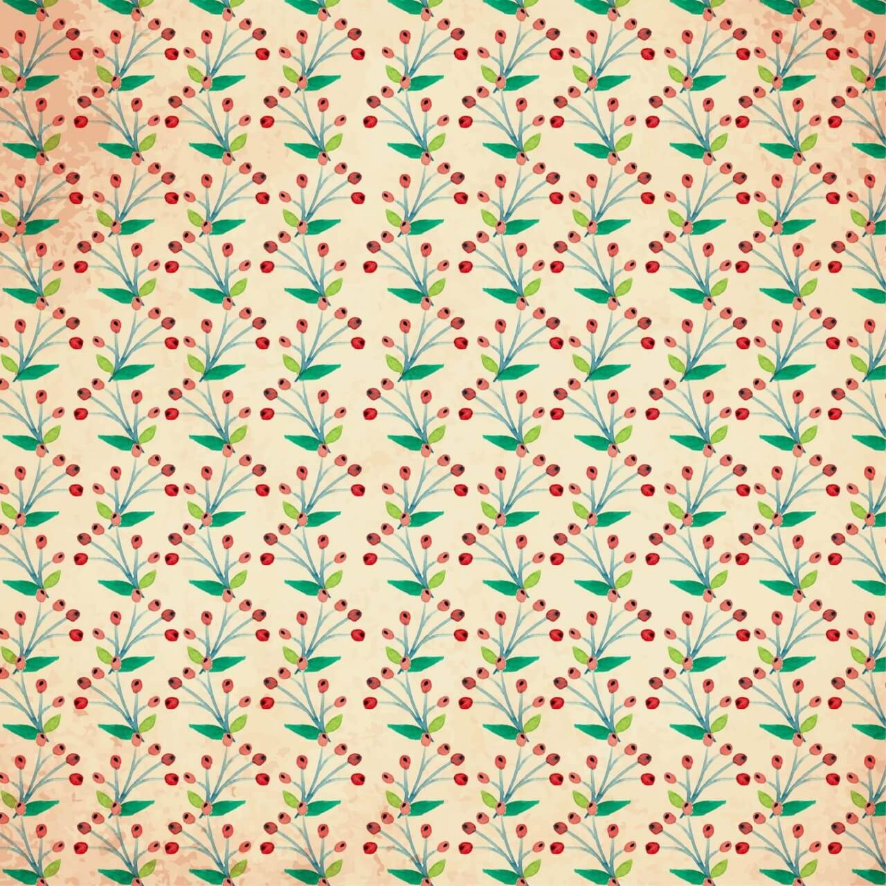 """Free vector """"Watercolor vector pattern with flowers"""""""