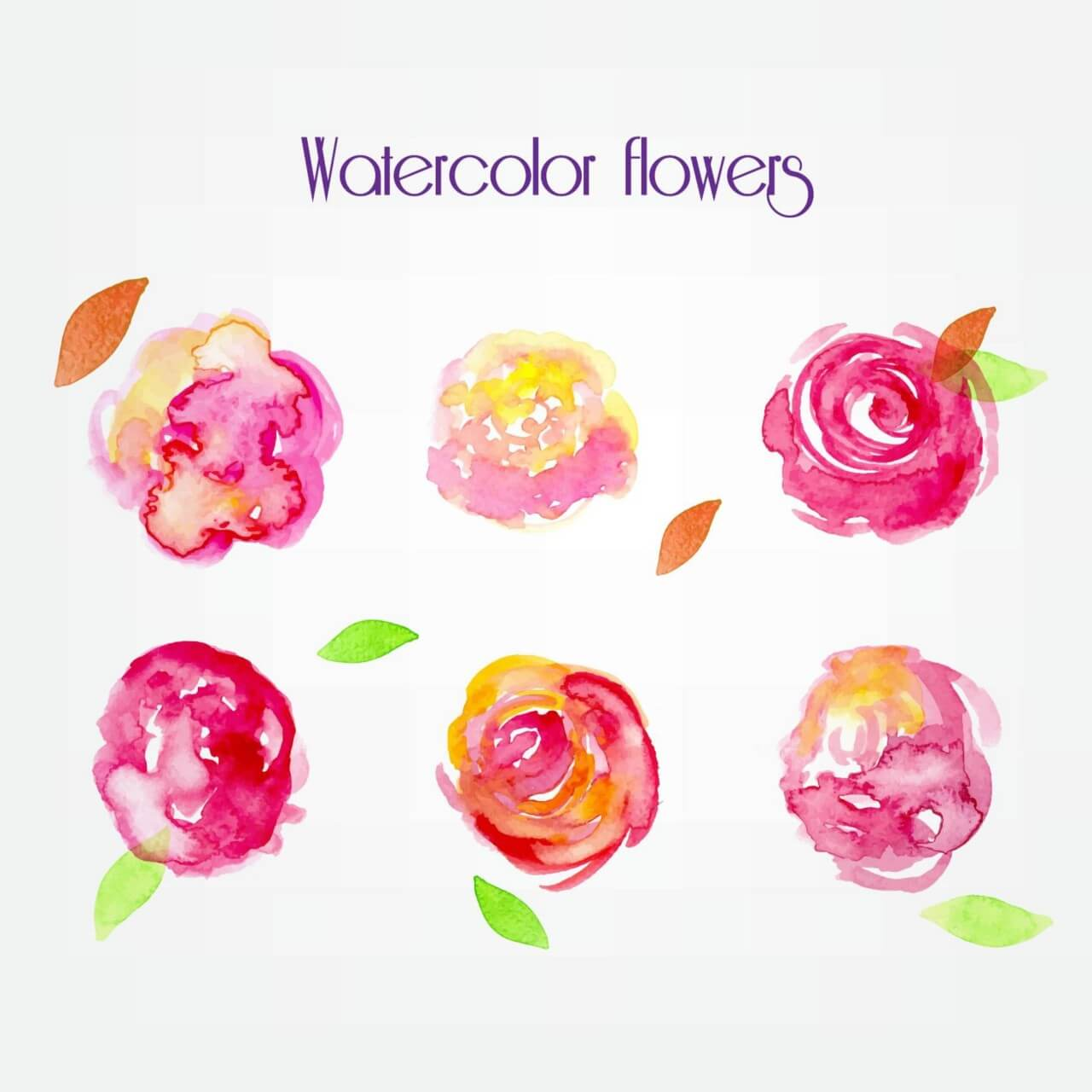 "Free vector ""Watercolor vector flowers"""