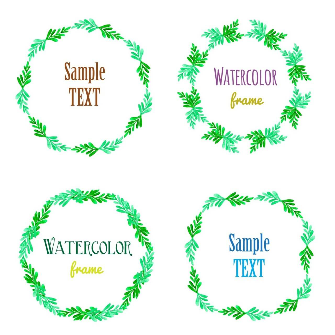"Free vector ""Watercolor vector frames """