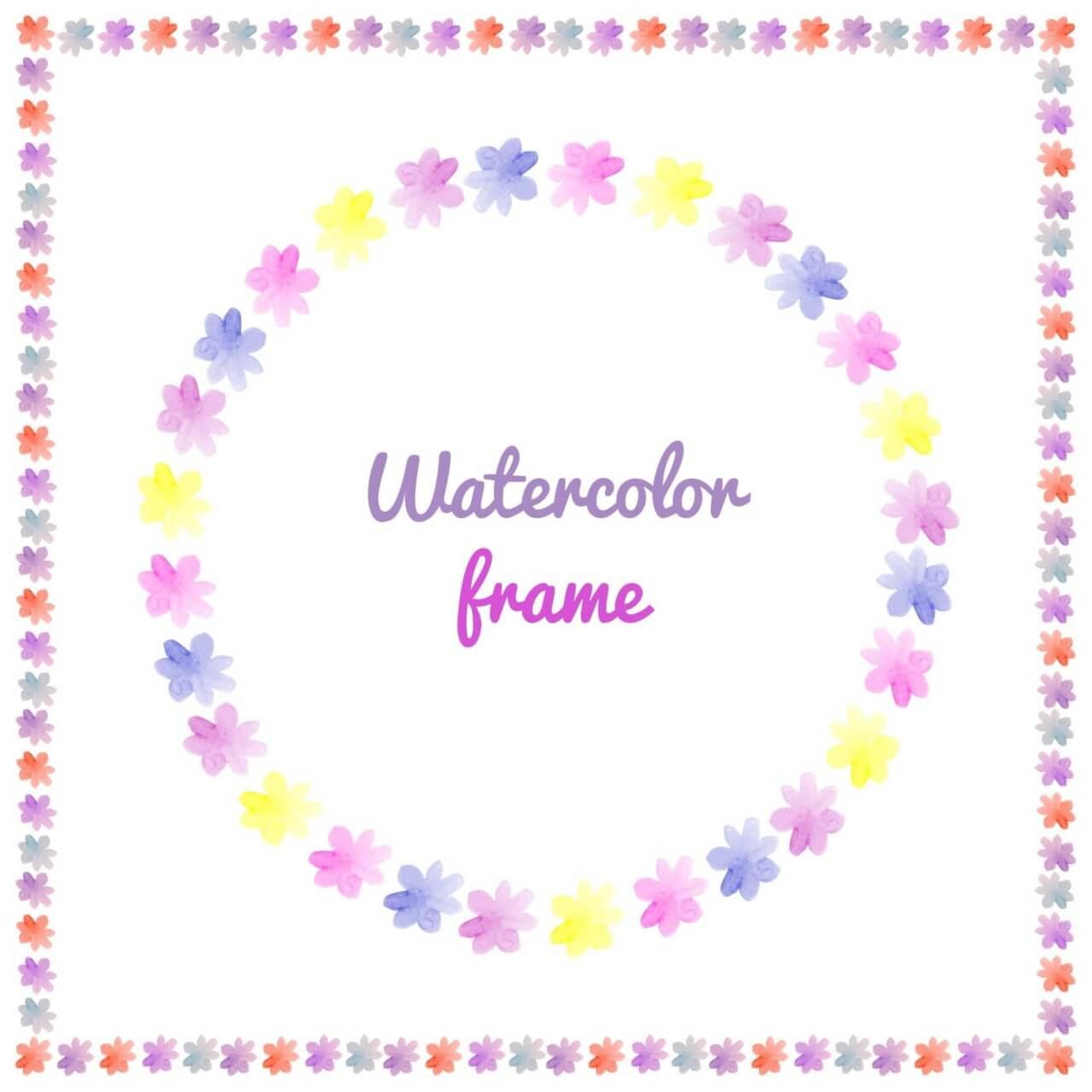 """Free vector """"Watercolor vector frames """""""