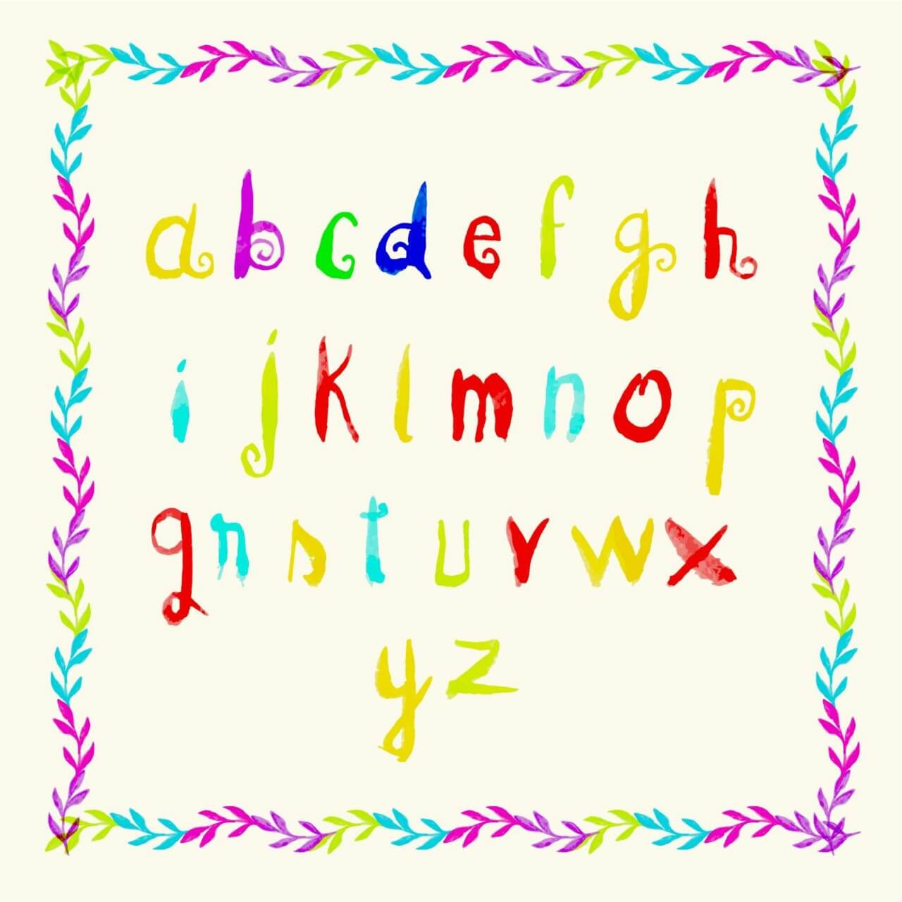 """Free vector """"Watercolor frame and letters"""""""