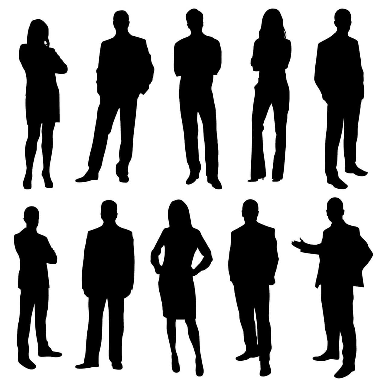"Free vector ""Office business people silhouettes"""