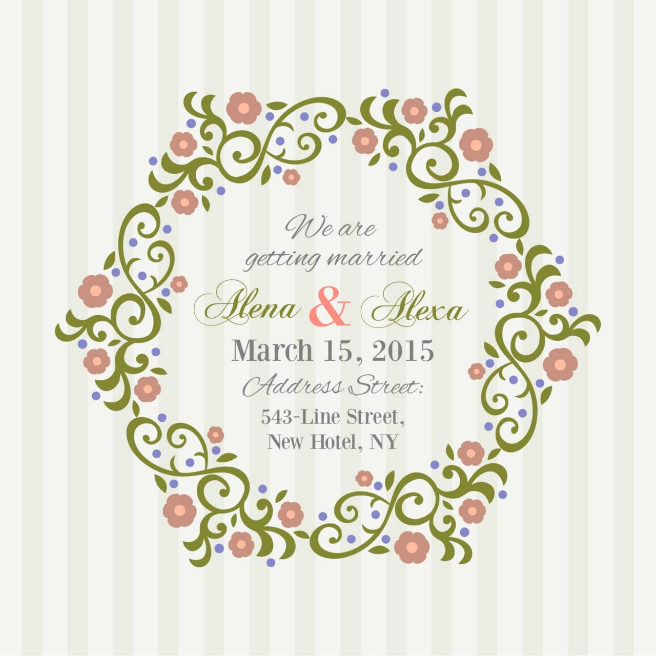 """Free vector """"Invitation Card with background"""""""