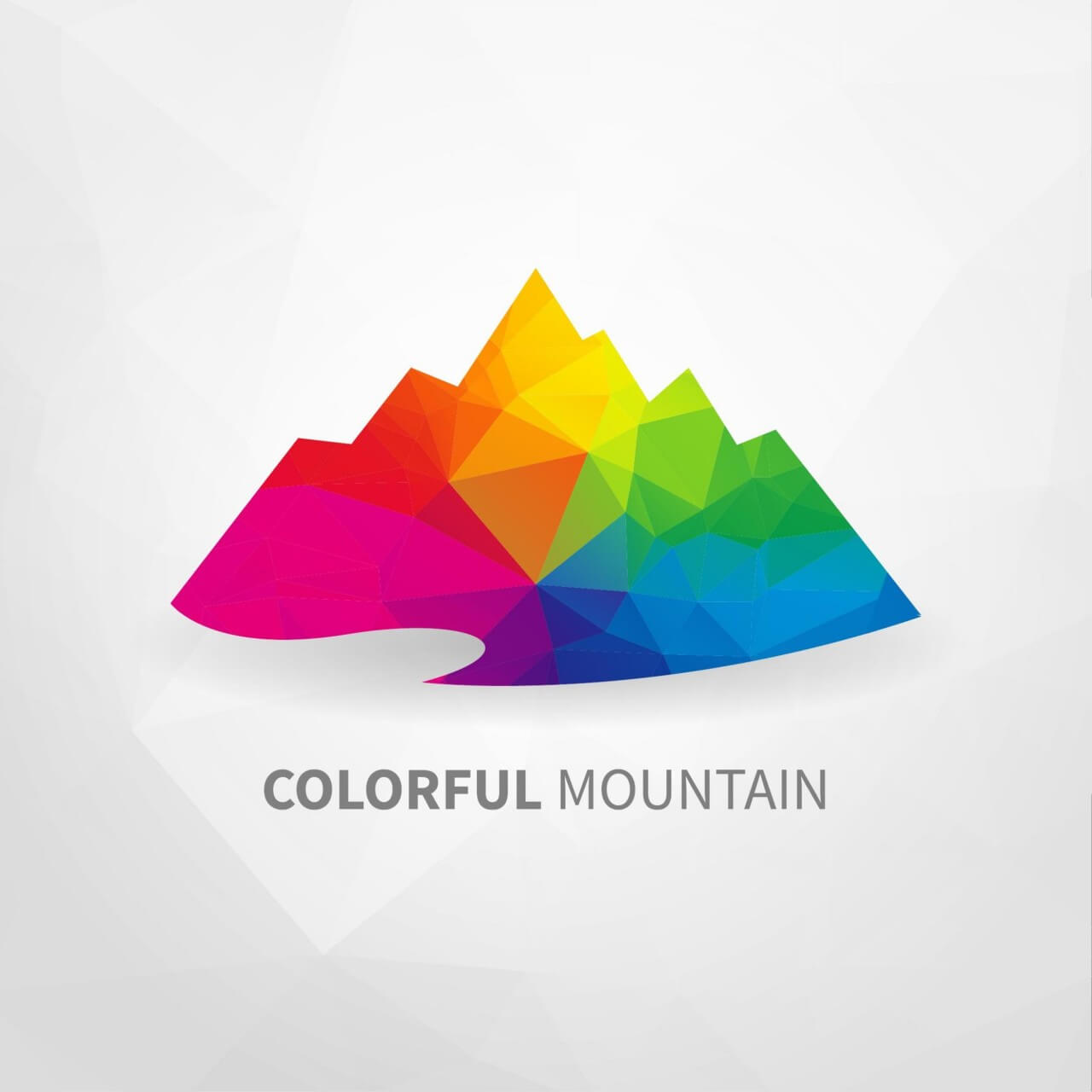 "Free vector ""Colorful Mountain"""