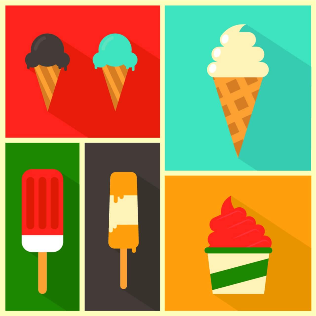 """Free vector """"Ice Cream Background"""""""
