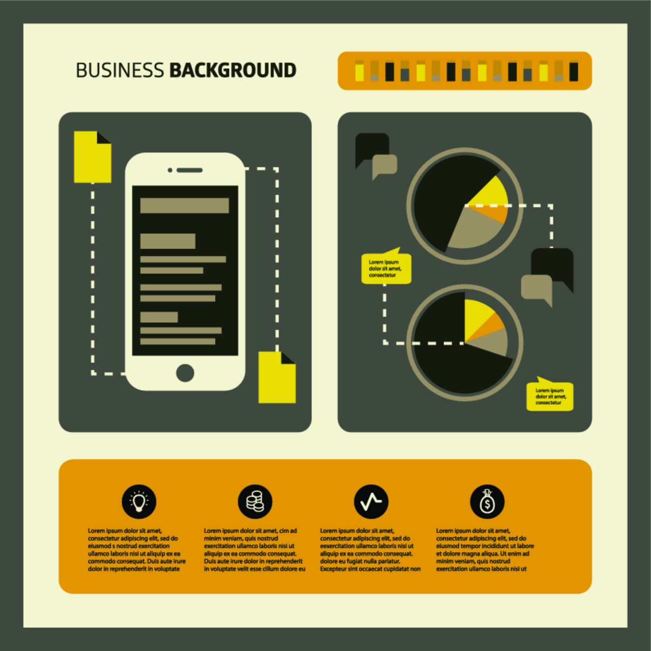 "Free vector ""Set of business working elements for digital marketing"""