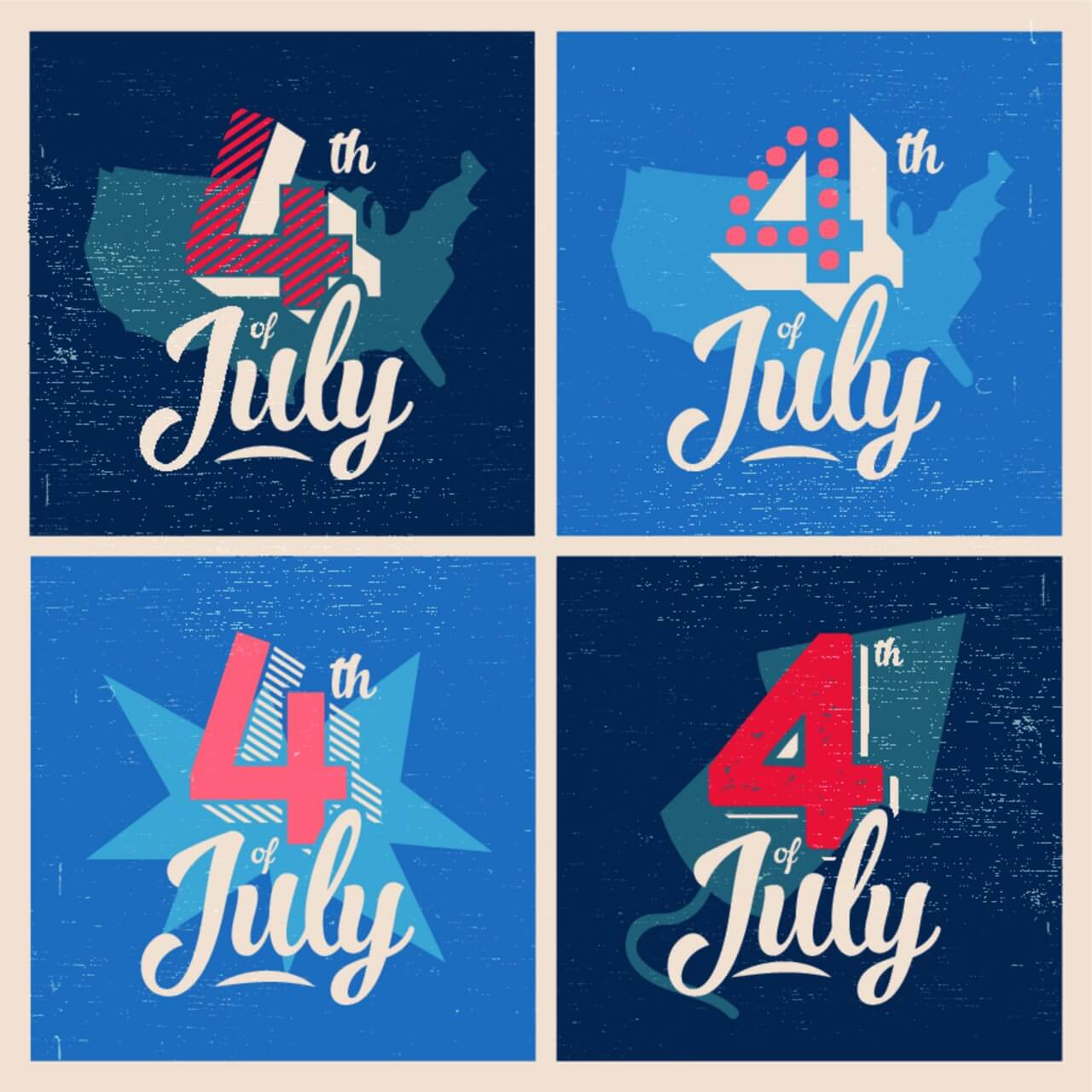 "Free vector ""4th of July Background"""
