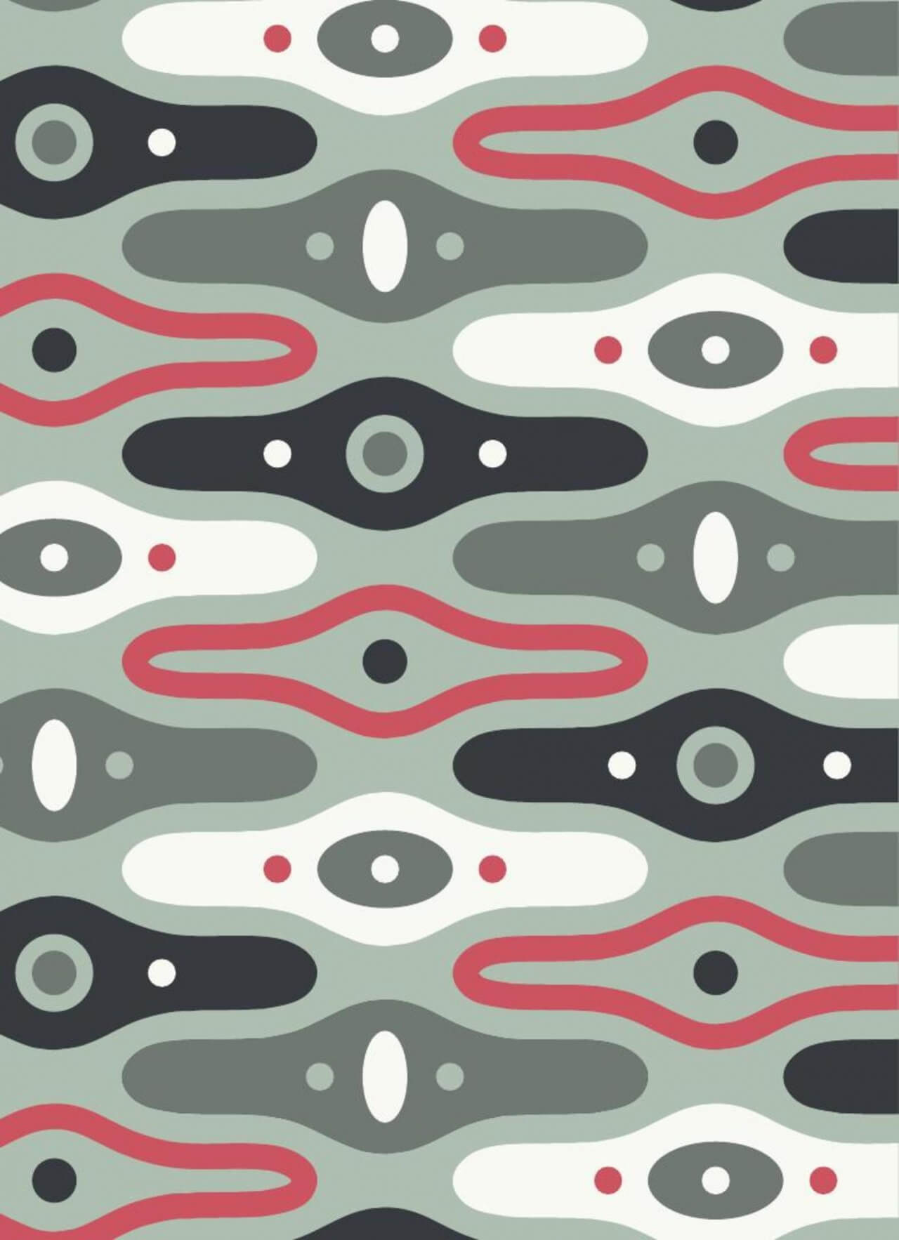"Free vector ""Abstract Sci Fi Pattern"""