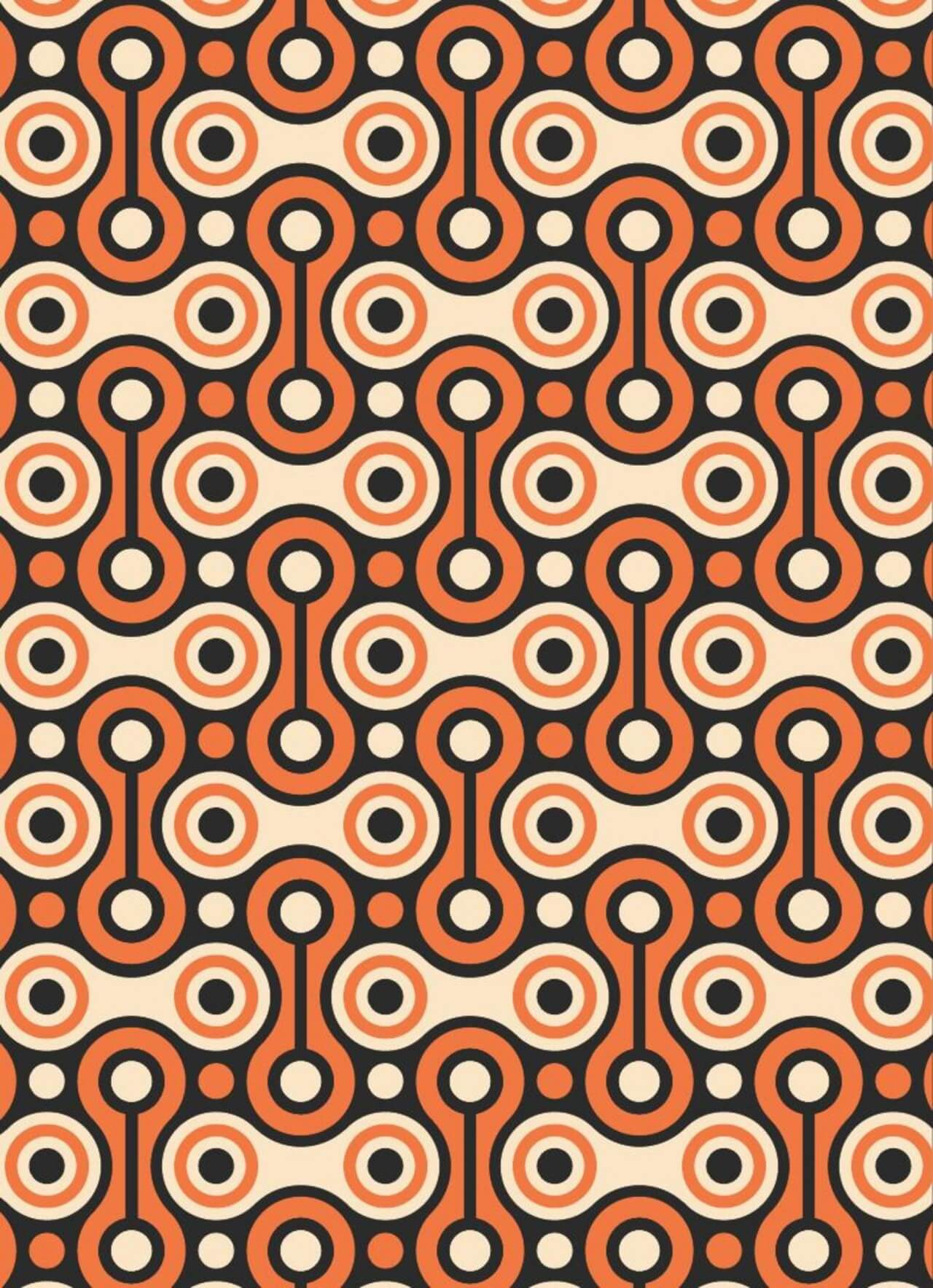 """Free vector """"Bicycle Chain Retro Pattern"""""""